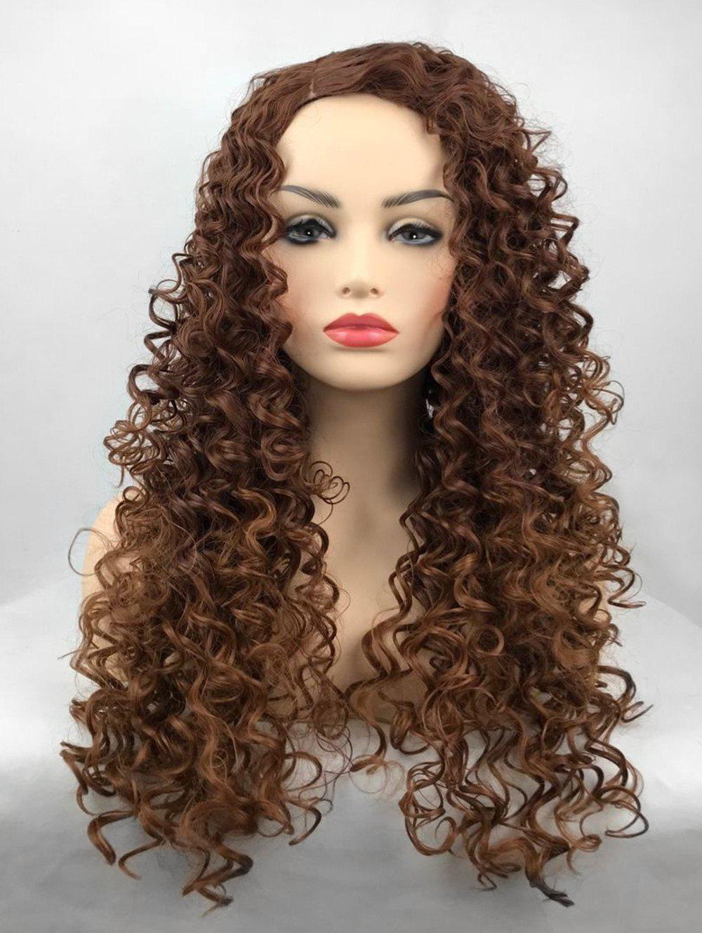 Fancy Long Side Parting Deep Wave Party Synthetic Wig