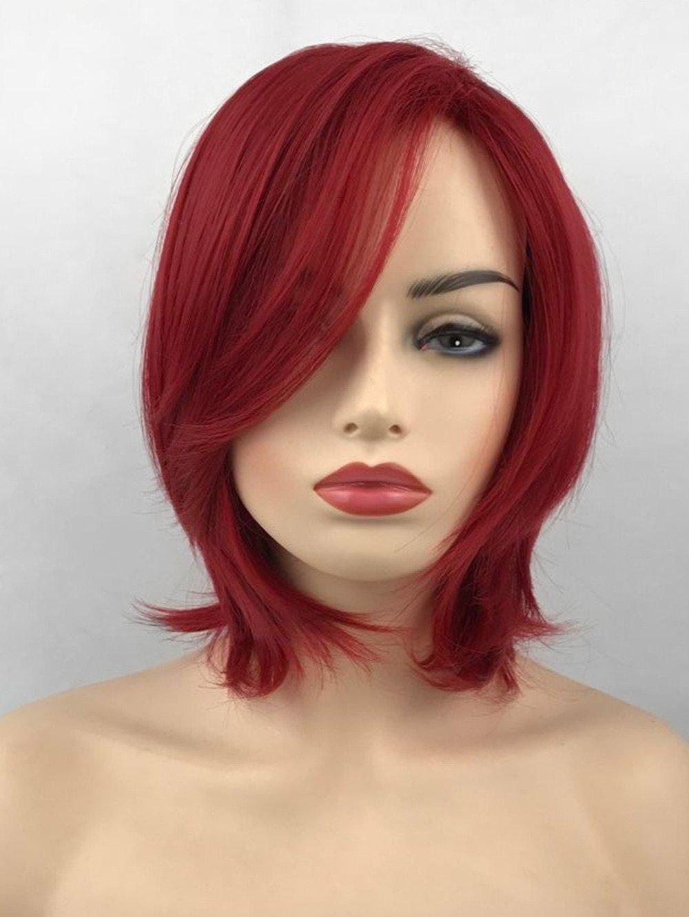 New Short Side Bang Straight Party Heat Resistant Synthetic Wig