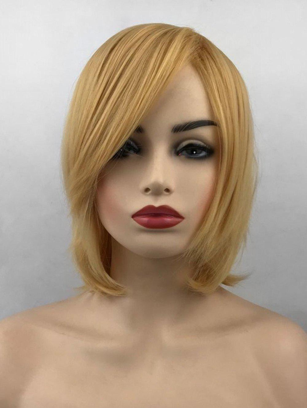 Unique Short Side Bang Straight Party Heat Resistant Synthetic Wig