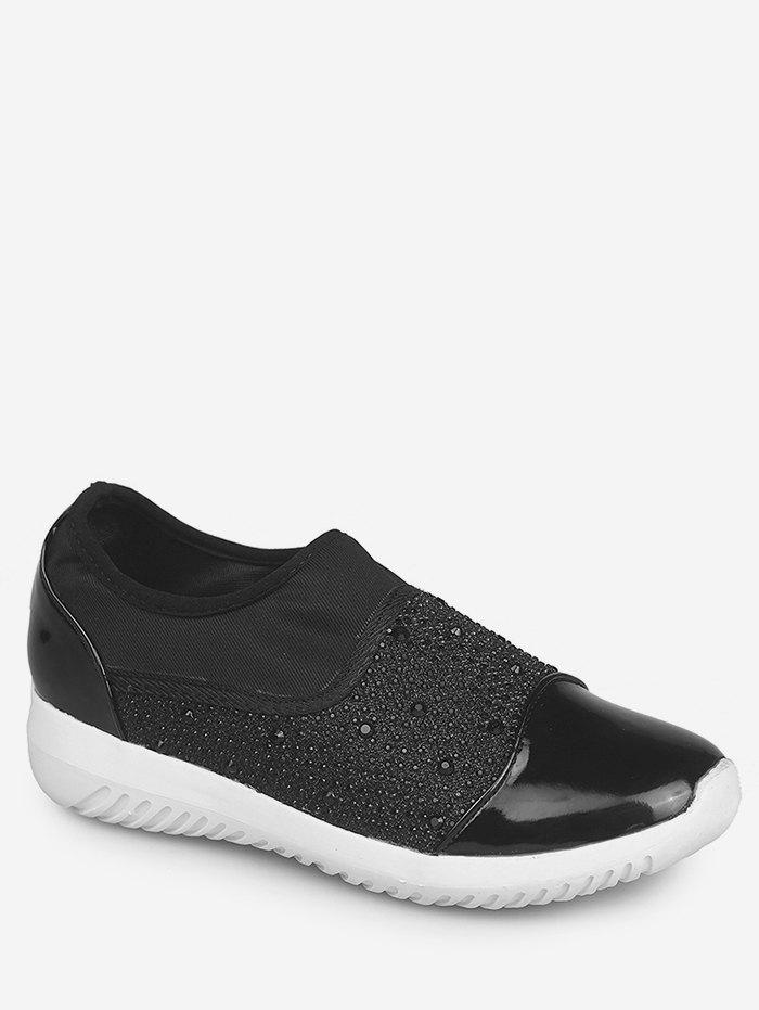 Latest Rhinestone Patch Slip On Sneakers