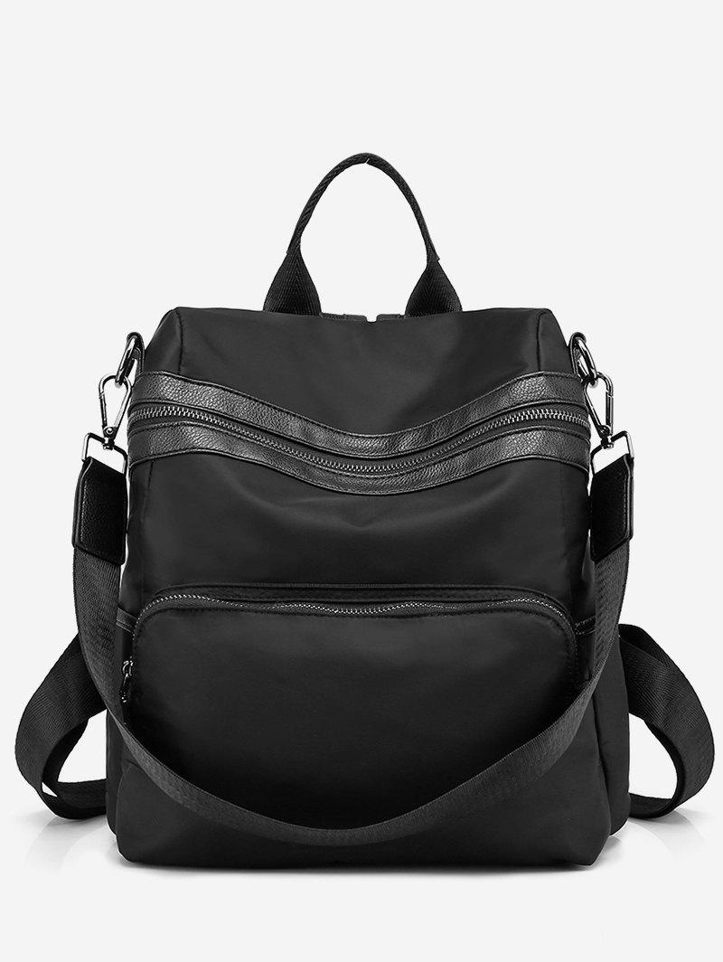 Outfit Color Block Striped School Backpack