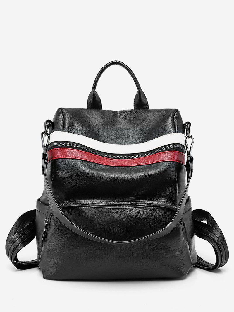Buy Color Block Striped School Backpack