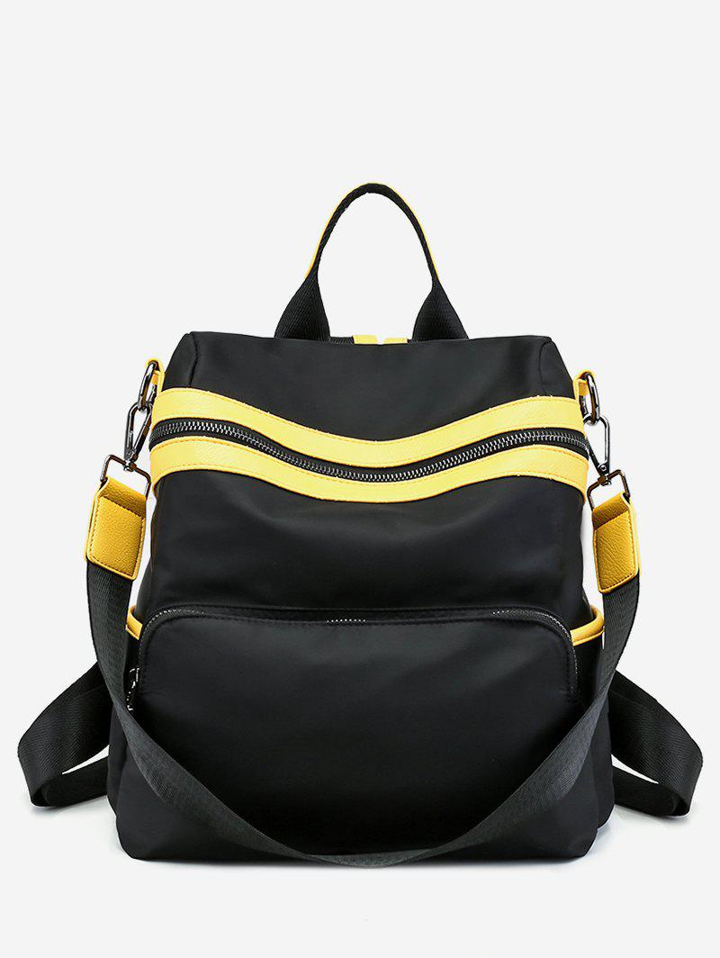 Outfits Color Block Striped School Backpack