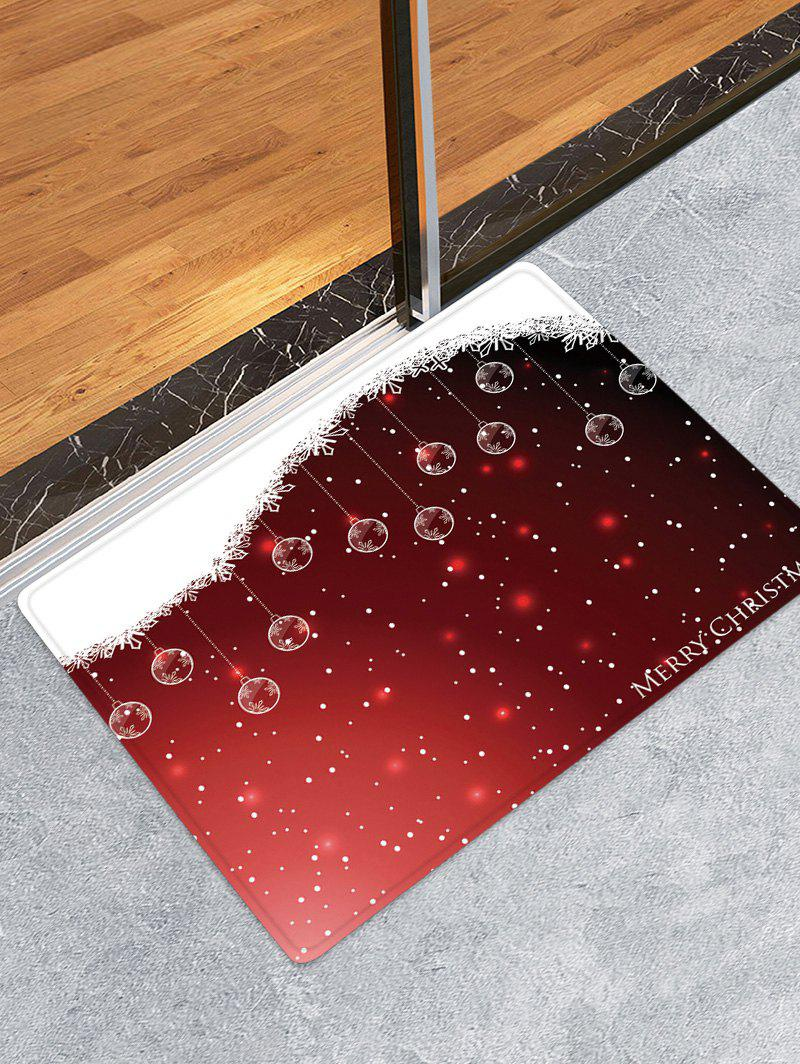 New Christmas Hanging Balls Pattern Anti-skid Water Absorption Area Rug