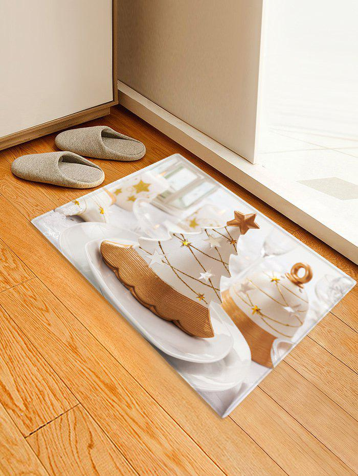 Outfit Christmas Tree Cake Pattern Anti-skid Water Absorption Area Rug