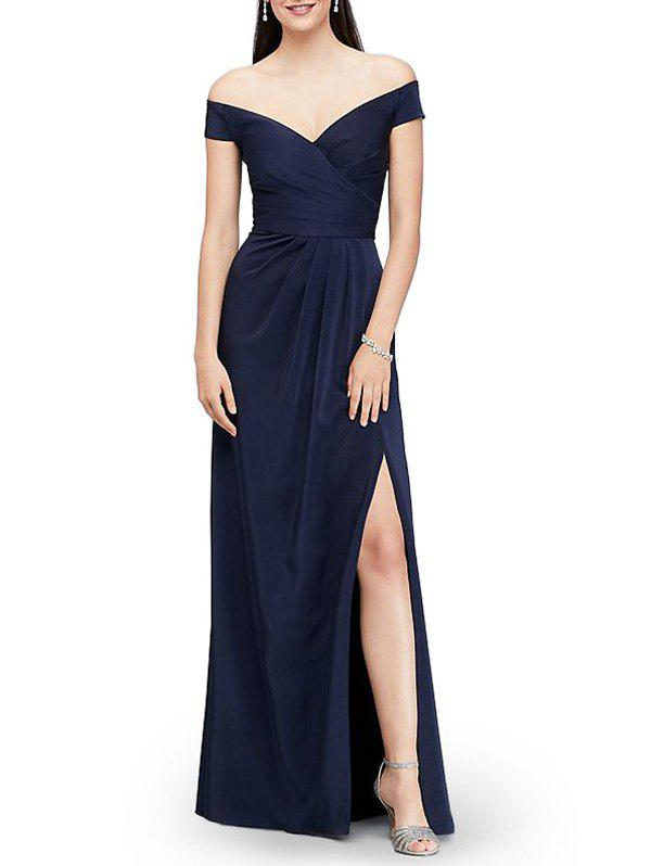 Sale Off The Shoulder Maxi Evening Dress