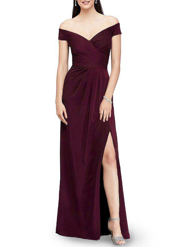Affordable Off The Shoulder Maxi Evening Dress