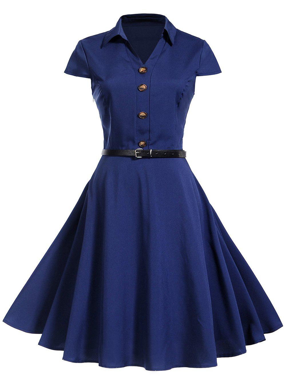 Shops Vintage Buttons Pin Up Dress