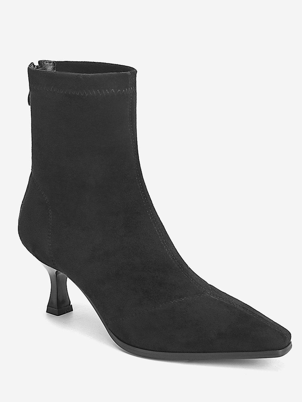 Latest Pointed Toe Strange Heel Suede Boots
