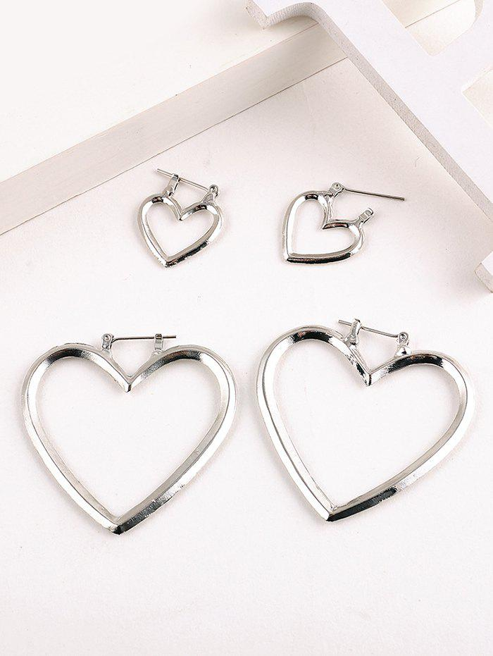 Online Hollow Heart Shape Detachable Earrings