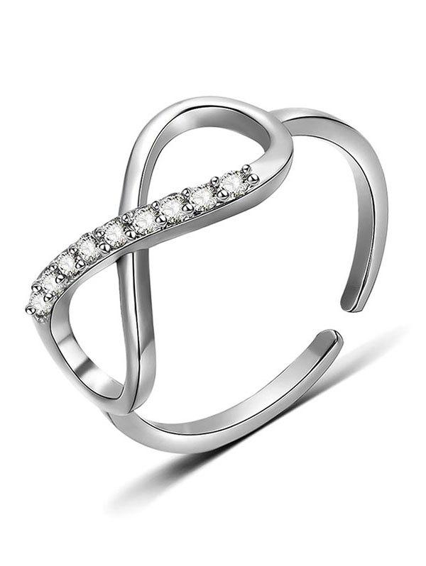 Store Eight Design Rhinestone Finger Ring