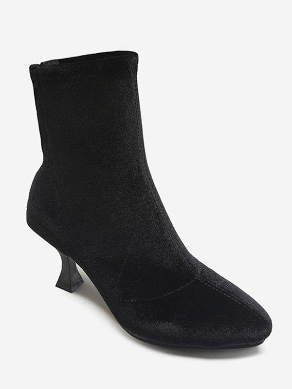 New Pointed Toe Suede Mid Calf Boots