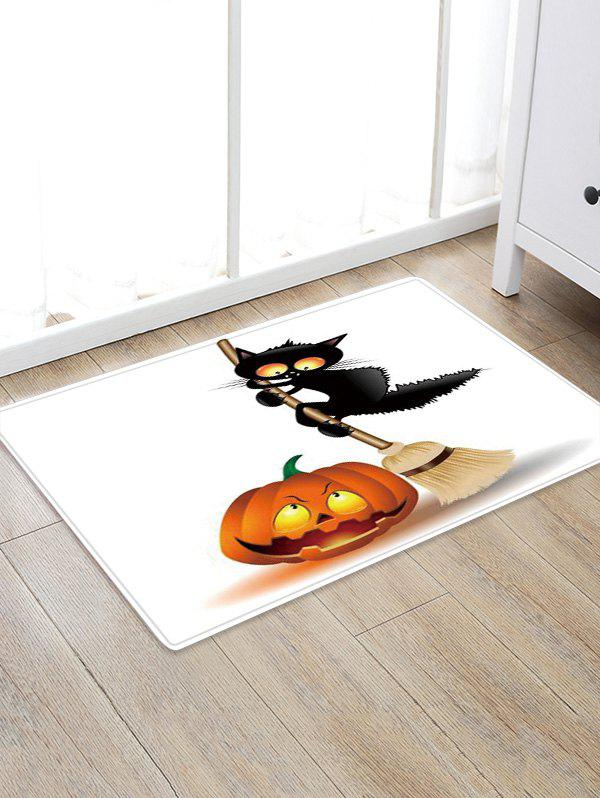 Affordable Pumpkin Cat Print Decorative Floor Rug