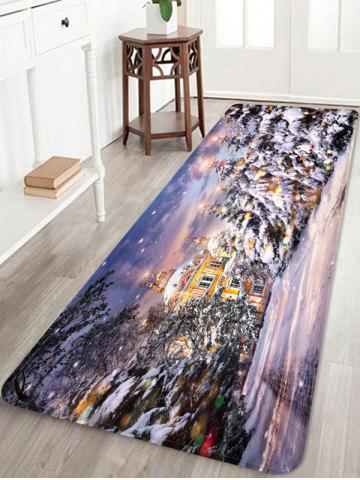 Christmas House Pattern Anti-skid Water Absorption Area Rug