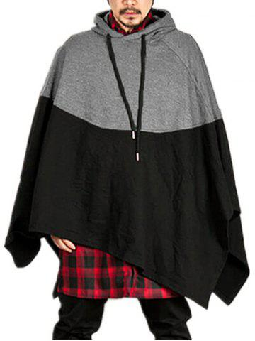 Contract Color Pullover Hooded Cloak