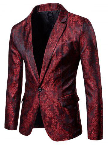Florals Jacquard Lapel One Button Blazer