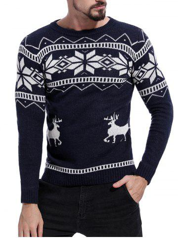 Christmas Deer Pattern Pullover Sweater