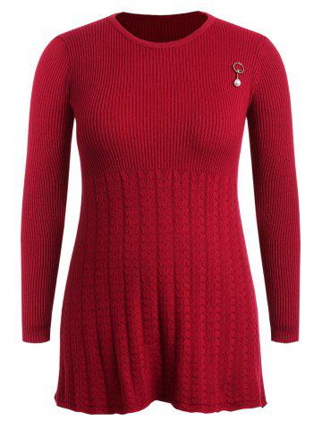d420aa7dac22 Long Sleeve Plus Size Ribbed Sweater Dress