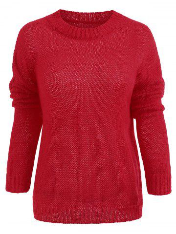 Drop Shoulder Tunic Knit Sweater