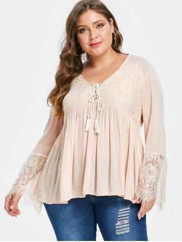 458b2e02362 Plus Size Pink Lace Blouse - Free Shipping
