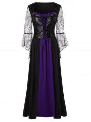 Plus Size Lace Up Maxi Halloween Dress -