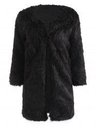 Tunic Faux Fur Fluffy Coat -