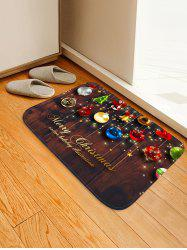 Christmas Decorations Pattern Anti-skid Water Absorption Area Rug -