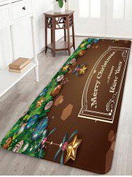 Christmas Greeting Pattern Anti-skid Water Absorption Area Rug -