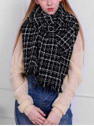 Stylish Plaid Oversized Warm Shawl Scarf -