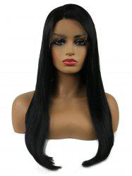 Long Side Parting Straight Party Synthetic Lace Front Wig -