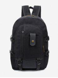 Canvas Color Block Multi Funtional Travel Backpack -