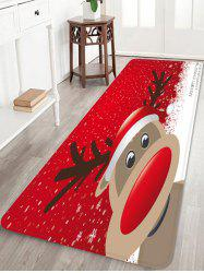 Christmas Deer Decoration Anti-skid Water Absorption Area Rug -