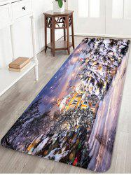 Christmas House Pattern Anti-skid Water Absorption Area Rug -