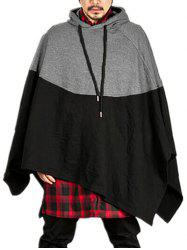 Contract Color Pullover Hooded Cloak -