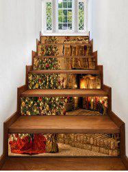 Christmas Tree Fireplace Pattern Decorative Stair Stickers -