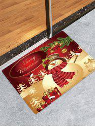 Christmas Snowman Gifts Pattern Anti-skid Water Absorption Area Rug -