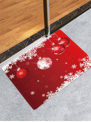 Christmas Balls Snowflake Pattern Anti-skid Water Absorption Area Rug -