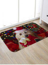 Christmas Dog Pattern Anti-skid Water Absorption Area Rug -
