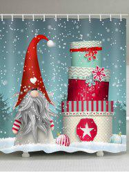 Father Christmas Gift Pattern Waterproof Shower Curtain -