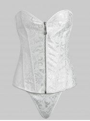 Arab Pattern Lace Back Corset -