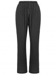 Sleepwear Polka Dot Print Pants -
