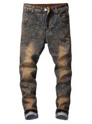 Vintage Faded Casual Jeans -