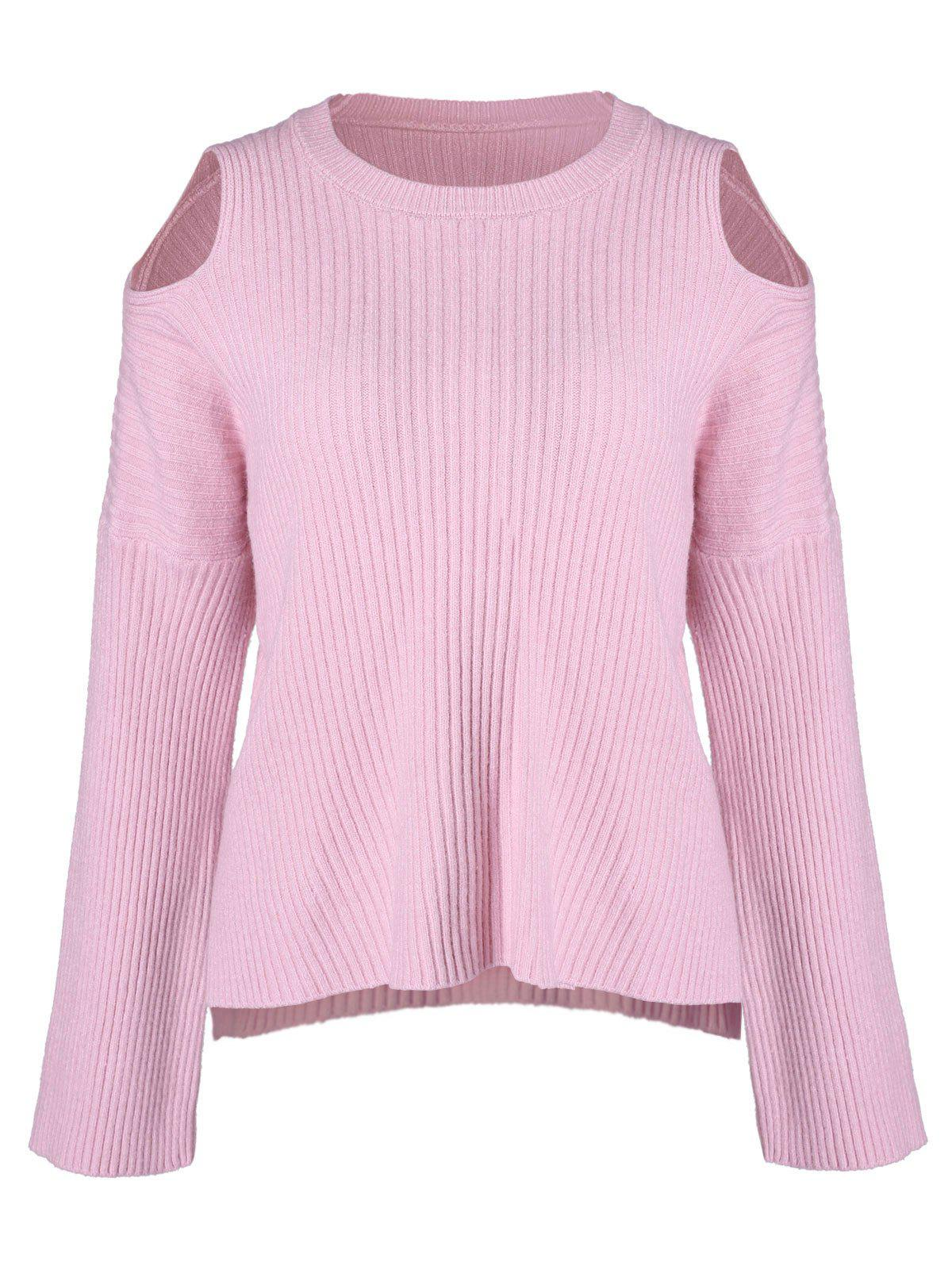 Outfit Drop Shoulder Long Sleeve Ribbed Knitwear