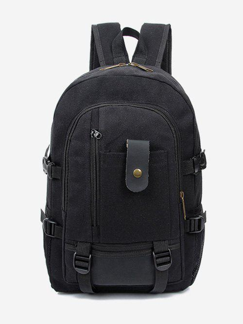 New Canvas Color Block Multi Funtional Travel Backpack