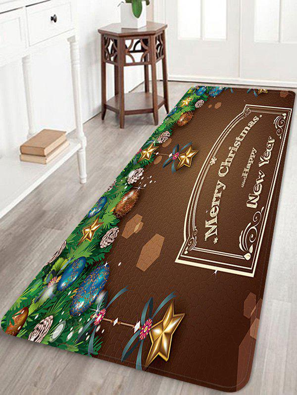 Affordable Christmas Greeting Pattern Anti-skid Water Absorption Area Rug