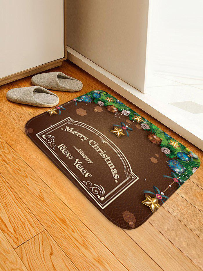 New Christmas Greeting Pattern Anti-skid Water Absorption Area Rug