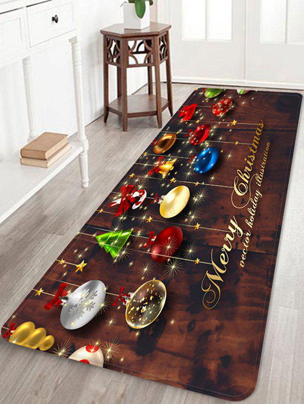 Latest Christmas Decorations Pattern Anti-skid Water Absorption Area Rug