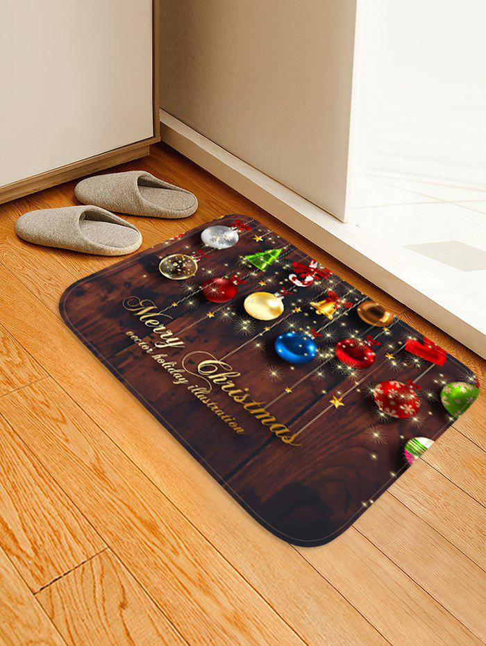 Trendy Christmas Decorations Pattern Anti-skid Water Absorption Area Rug