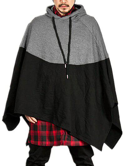 Sale Contract Color Pullover Hooded Cloak