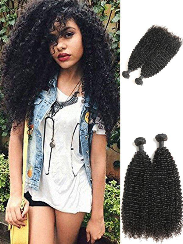 Outfits 2Pcs Human Hair Kinky Curly Brazilian Virgin Hair Weaves